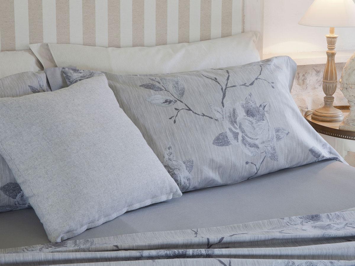 Completo letto matrimoniale in cotone stampato, Amo la Casa.